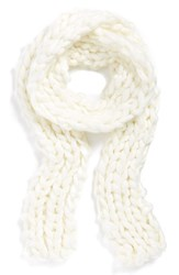 Women's Free People Chunky Knit Scarf Ivory