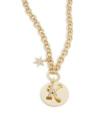 Rj Graziano K Initial Pendant Necklace Gold