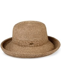 Nine West Packable Sun Hat Brown
