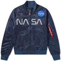 Alpha Industries Nasa Funnel Neck Jacket Blue