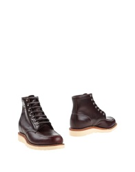 Chippewa Ankle Boots Maroon
