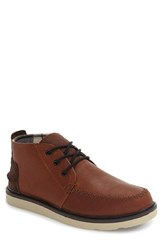 Toms Men's Chukka Boot Brown Brown Leather