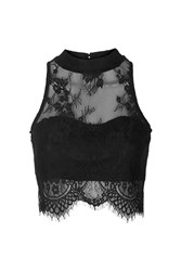 Sweetheart Lace Crop Top By Glamorous Black