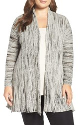 Nic Zoe Plus Size Women's Light Beam Long Open Cardigan