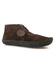 Pretty Green Lexington Suede Boot Chocolate