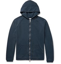 Nonnative Coach Overdyed Loopback Cotton Jersey Zip Up Hoodie Midnight Blue