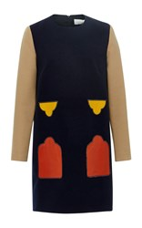 Parden's Mesu Color Block Shift Dress Navy