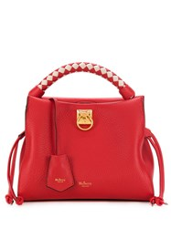 Mulberry Small Iris Heavy Grain Tote Bag Red