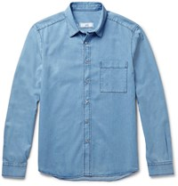 Ami Alexandre Mattiussi Classic Slim Fit Denim Shirt Blue