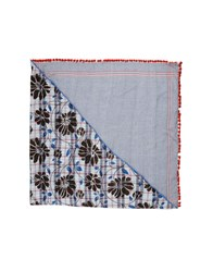 Grey Daniele Alessandrini Square Scarves Blue