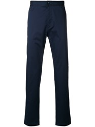 Ck Calvin Klein Twill Tapered Trousers Blue