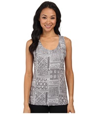 Woolrich Center Line Printed Tank Dark Ash Women's Sleeveless Gray