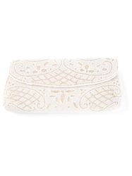 Rewind Vintage Affairs Handmade Beaded Clutch Nude And Neutrals