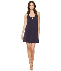 Brigitte Bailey Mika Sleeveless Dress With Keyhole Navy Women's Dress