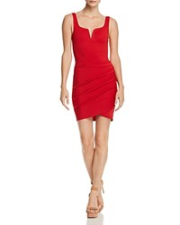 Tiger Mist Leah Ruched Dress Red