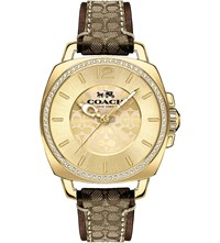 Coach 14502509 Boyfriend Stainless Steel And Leather Watch