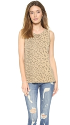 Current Elliott The Muscle Tee Camel Leopard