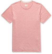 Rag And Bone Classic Slub Cotton Jersey T Shirt Pink