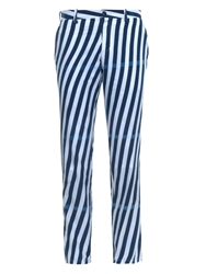 Blue Blue Japan Striped Cotton Chinos