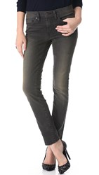 6397 Loose Skinny Jeans Dirty Faded Black White Stripe