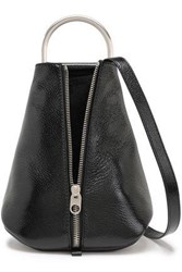 Proenza Schouler Woman Textured Patent Leather Backpack Black