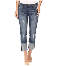 Kut From The Kloth Bella Straight Leg With Wide Cuff Responsible Wash Responsible Wash Women's Jeans Blue