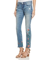 Blank Nyc Blanknyc Embroidered Skinny Ankle Jeans In Wild Child 100 Bloomingdale's Exclusive