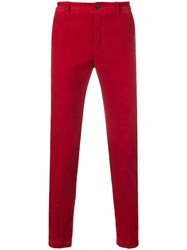 Department 5 Corduroy Skinny Trousers Red