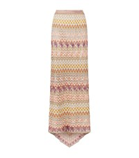 Missoni Crochet Long Skirt Female Pink