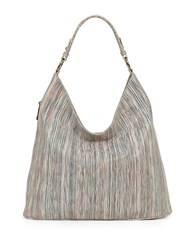 Sondra Roberts Multi Stripe Hobo Bag