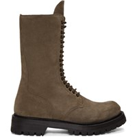 Rick Owens Brown Army Boots
