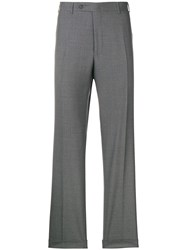 Canali Straight Leg Suit Trousers Grey