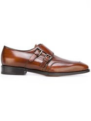 Salvatore Ferragamo Monk Strap Shoes Brown
