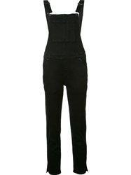 Ksubi Cropped Overall Black