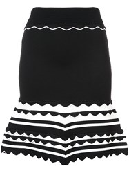 Yigal Azrouel Knitted Striped Dress Black