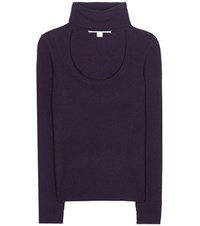 Diane Von Furstenberg Gracey Wool And Cashmere Turtleneck Sweater Purple