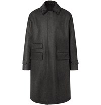 Camoshita Vitale Barberis Canonico Puppytooth Wool Coat Gray
