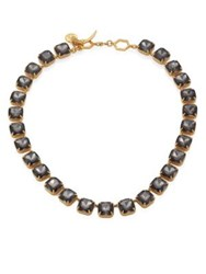 Tory Burch Crystal Stone Short Necklace Smoke