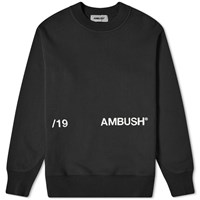 Ambush Aw19 Crew Sweat Black
