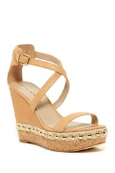 Via Spiga Moss Wedge Sandal Beige