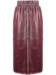 Miu Miu Sports Trim Midi Skirt Pink And Purple