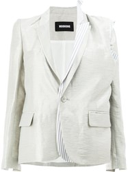 Moohong Layered Sheen Blazer White