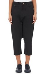 Regulation Yohji Yamamoto Women's Denim Drop Rise Ankle Pants Black