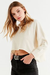 Truly Madly Deeply Moon Cropped Sweatshirt Ivory