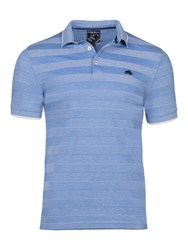 Raging Bull Men's Big And Tall Texture Stripe Polo Mid Blue