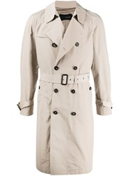 Tagliatore Belted Double Breasted Trench Coat 60