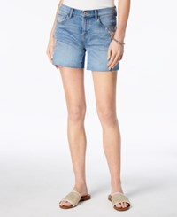 Tommy Hilfiger Embroidered Cutoff Shorts Light Embroidered Floral Wash