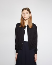 Comme Des Garcons Girl Wool Ruffle Cardigan Black
