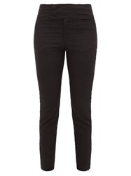 Isabel Marant Ovida Slit Cuff Cotton Blend Trousers Black