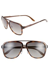 Men's Carrera Eyewear 57Mm Navigator Sunglasses Havana Brown Brown Gradient